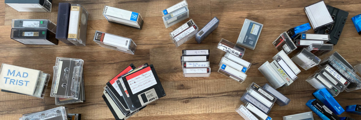 diskettes, audio and video tapes from the Erstwhile Storage Formats Museum