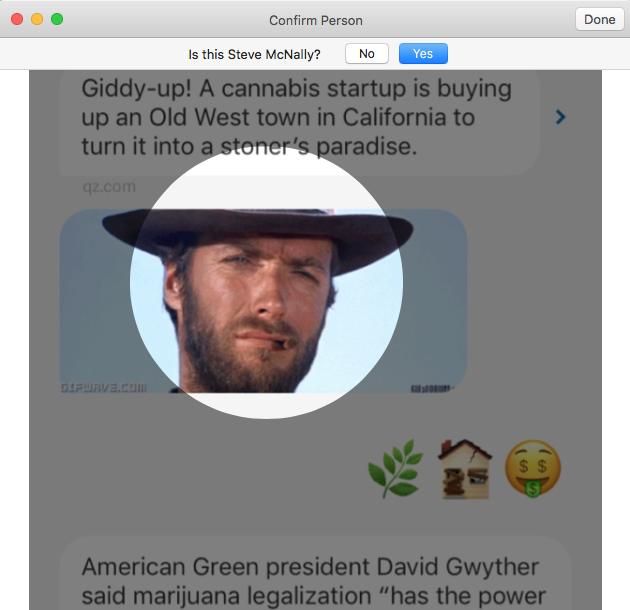 Photo.app asks: Is Clint Eastwood Steve?